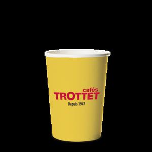 Trottet Gobelets en carton jaunes 10 CL 80 pièces