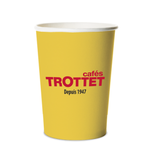 Trottet Yellow Cardboard Cups 30CL