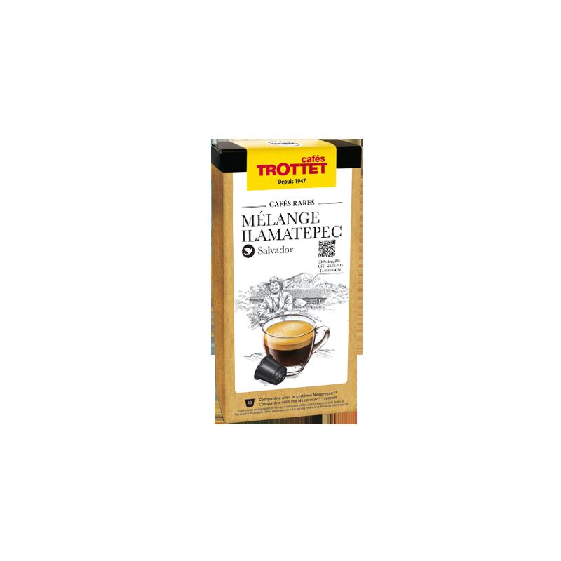 Cafés Trottet 10 Capsules Mélange Illamatepec Compatibles Nespresso® Cafés Trottet
