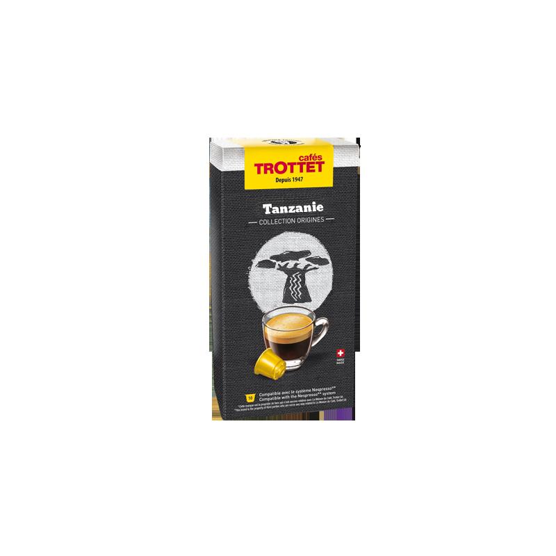 Cafés Trottet 10 Capsules Tanzanie Compatibles Nespresso® Cafés Trottet