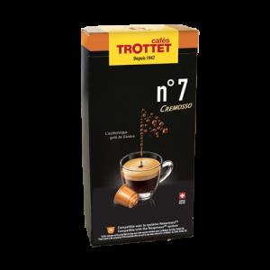 10 Capsules N°7 Cremosso Compatibles Nespresso® Cafés Trottet