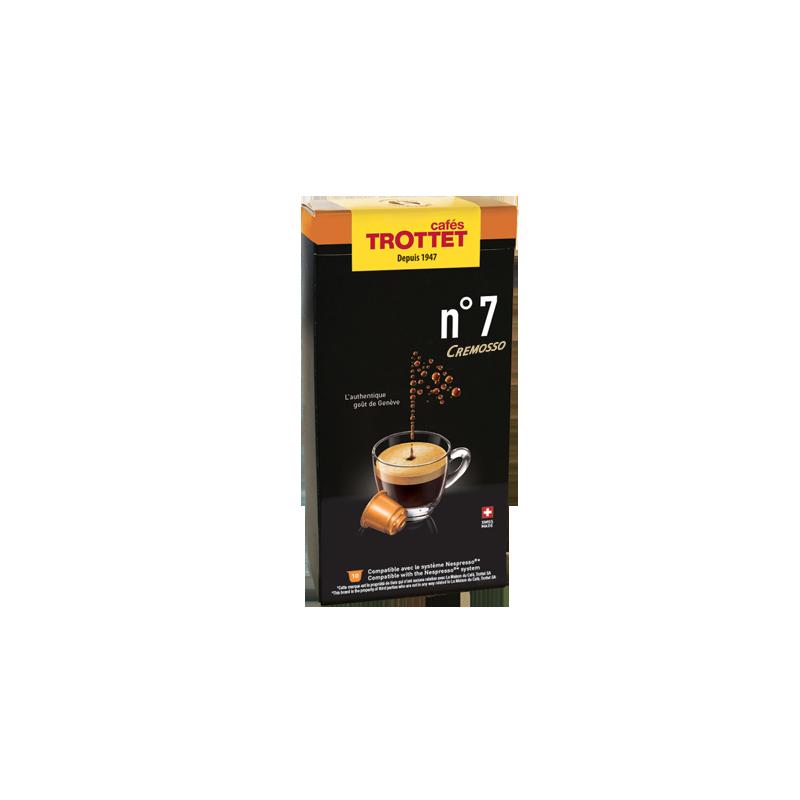 Cafés Trottet 10 Capsules N°7 Cremosso Compatibles Nespresso® Cafés Trottet