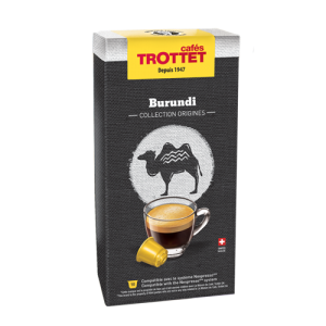 10 Capsules Burundi Compatibles Nespresso® Cafés Trottet