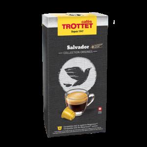 10 Capsules Salvador Compatibles Nespresso® Cafés Trottet