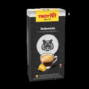 10 Capsules Indonésie Compatibles Nespresso® Cafés Trottet