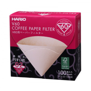 Hario Filtres en papier pour V60 1-4 Tasses