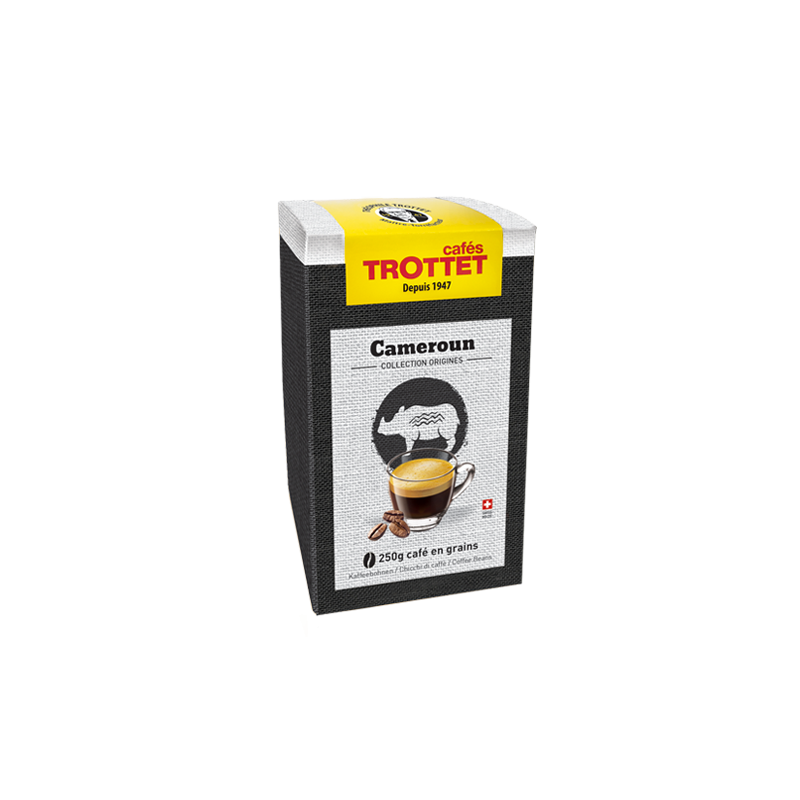 Cafés Trottet 250 gr Café en grain Cameroun Cafés Trottet