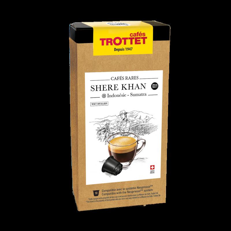 Cafés Trottet Capsules Indonésie Shere Khan Lavé 10s