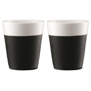 Bodum Bistro Set 2 Mugs Black 0.3L