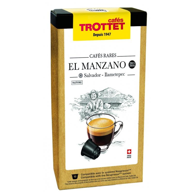 Cafés Trottet Capsules Salvador El Manzano Nature 10S