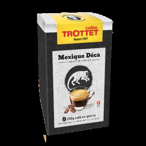 250 gr Café en grain Mexique Décaféiné Cafés Trottet