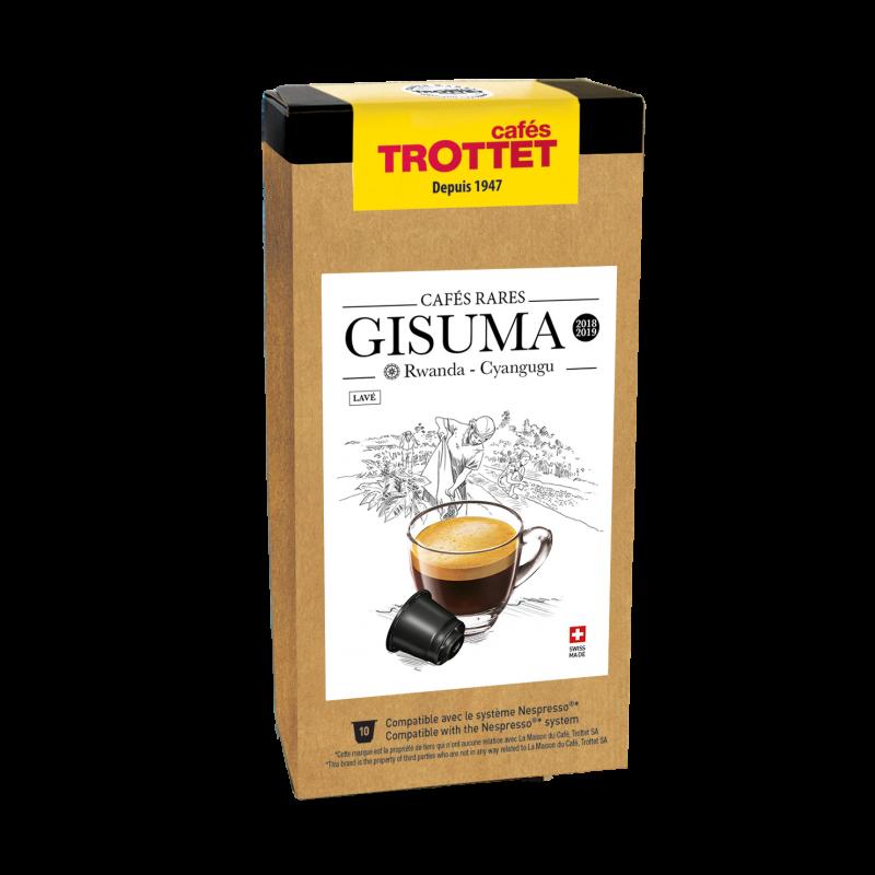Cafés Trottet Capsules Rwanda Gisuma 10S