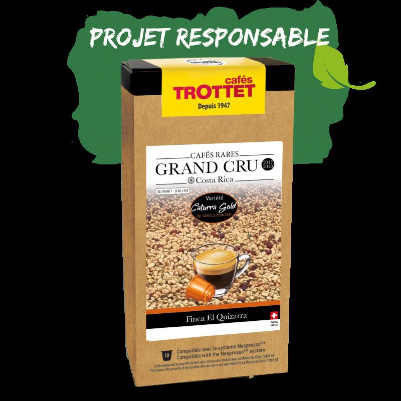 Cafés Trottet Grand Cru Costa Rica Caturra Gold Honey 10S