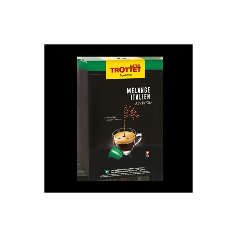 Cafés Trottet Capsules Melange Italien Espresso 50S