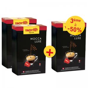 50 Capsules Mocca Luxe 50S Compatibles Nespresso® Cafés Trottet