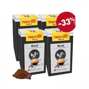 Brésil 250Gx4 Café en grains Pack