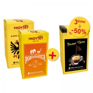 2 cafés spéciaux achetés, 3e à 50% Pack