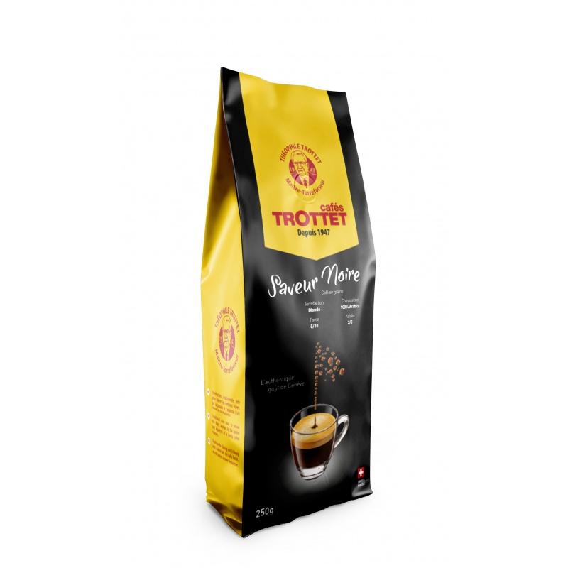 Cafés Trottet Saveur noire grains 250gr