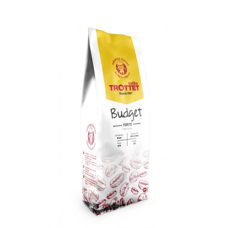 Cafés Trottet Budget FORTE Café en grains 250G