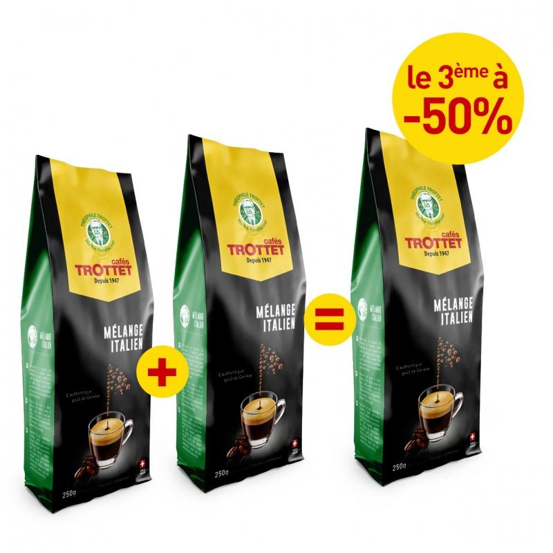 2x250G Mélange Italien achetés, 3e à 50% Pack