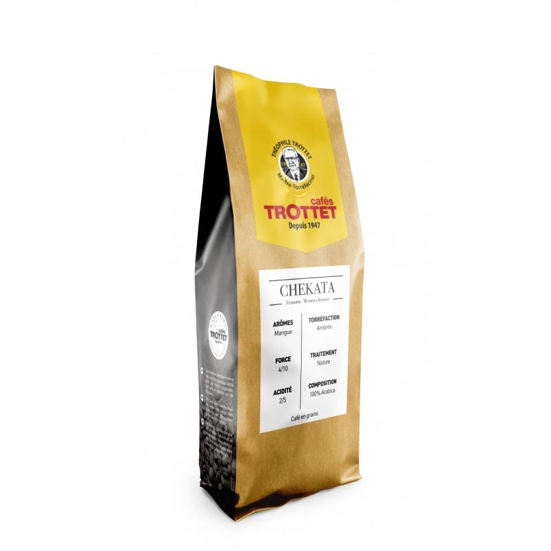 Cafés Trottet 250 gr Café en grain Natural Guji Ethiopie Cafés Trottet