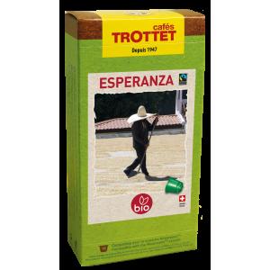 10 Capsules Esperanza Bio Compatibles Nespresso® Cafés Trottet