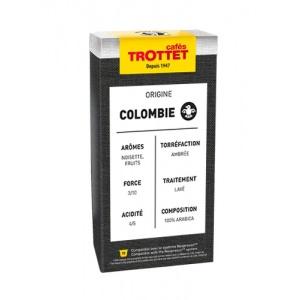 10 Capsules Colombie Compatibles Nespresso® Cafés Trottet